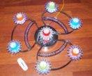 Люстра галогеновая с светодиодной подс.на7 лампоче