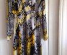 Нарядное платье с легким люрексом, разм 52