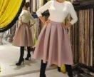 Женственная юбка цвета пыльной розы