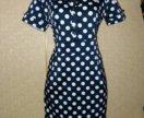 Платье в горох 48р