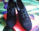 Туфли весенние замшевые