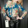 Блузка из шифона с цветочным принтом. Новая