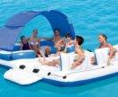 Надувной плот плавучий остров, с беседкой Bestway