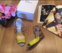 Босоножки на танкетке Christian Dior (оригинал)