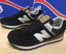 Новые мужские кроссовки new balance 574,черные