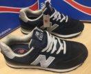 Новые мужские кроссовки new balance 574, синие