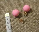 Серьги пусеты матовые розовые
