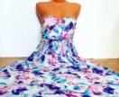 Шикарное платье из натурального шифона