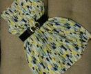 Платье шифон с геомертич.рисунком 42 размер