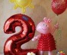 Компазиция из воздушных шаров на два годика!