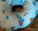 Детская подушка для новорожденного.