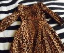 Платье мини леопардовое