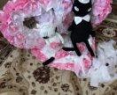 Свадебное украшение на машину.Коты
