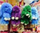 Разноцветные зайчики натур мех
