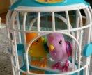 Интерактивные птички в клетке