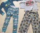 Пижамы и футболки на 3-4 года