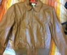 Кожаная женская куртка Adidas
