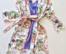 Платье-халат из итальянской вискозы