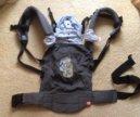 """Эрго рюкзак MB-design """"Тедди с зайцем"""" серый"""