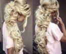 Наращивание волос люкс
