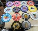 Разноцветные игральные фишки без номинала