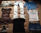 Очень много одежды! Платье, шорты, юбка, пуловер.