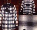 Пальто новое в клетку 42-44