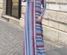 Длинное платье-халат в пол