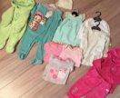 Одежда на девочку от 3-12 месяцев