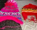 2 шапки на девочку 3-6л