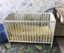 Кроватка Детская Икеа+ 2 матраса новых+ комод