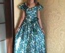 Атласное платье на выпускной