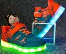 Светящиеся детские кроссовки кеды 30 с зарядкой