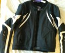 Мото куртка кожаная