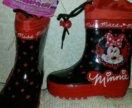 Бронь Резиновые детские  сапоги Disney новые Минни