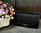 Сумочка шанель в классическом черном цвете