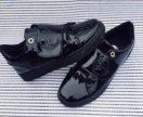 Лаковые кеды ботинки