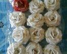 Бант роза 6,5см 15шт