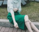 Очень милый салатовый свитер S