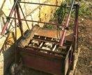 Шлакоблочный станок на 3 блока готовый к работе