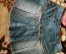 Джинсовая детская юбка
