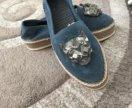 Обувь,материал  джинса