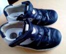 Сандалии chicco 25 синие туфли кожа