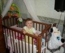 Детская кроватка с кокосовым матрасом