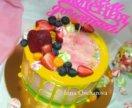 Торты без мастики с ягодами