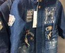Новые джинсовая куртка парка