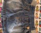 Джинсовая юбочка на 1,5-2 годика