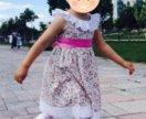 Платье 2-3 г с панамкой
