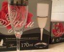 Набор бокалов шампанское Эдем 6шт 170 мл