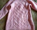 Платье вязаное на 2года